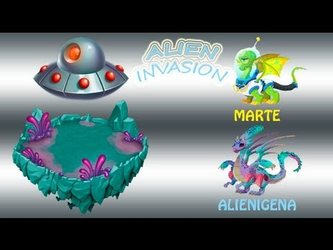 Dragon City - DRAGON MARTE y ALIEN