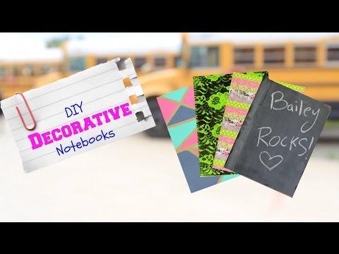 DIY Decorative Notebooks | Back-to-School Supplies