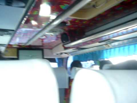Bus ride enroute from Sikhiu to Bangkok in Thailand 3