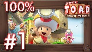 Captain Toad - Treasure Tracker (Switch): 100% Walkthrough Part 1 - Episode 1