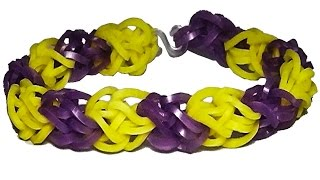 браслет резинок без станка. (на вилках) Діамантовий із резинок Rainbow Loom. Diamond bracelet