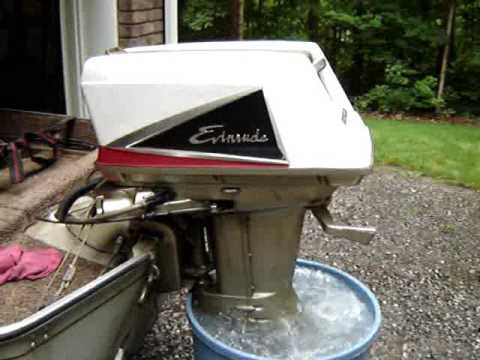 Evinrude outboard 1960 40hp lark ii youtube for Used outboard motors nj