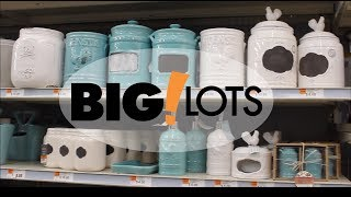 SHOP WITH ME  BIG LOTS HOME DECOR - HAUL (JULY 2018 20% OFF)