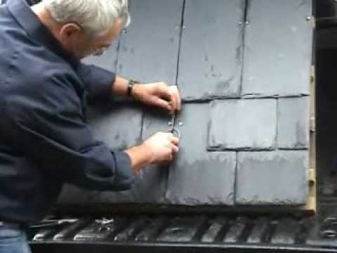 Repairing A Broken Roof Slate With New Hallhook Youtube