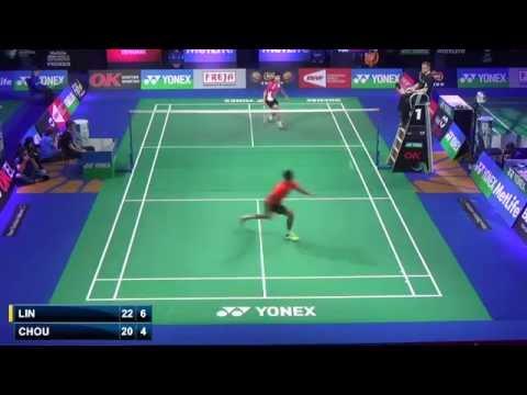 R32 - MS - LIN Dan vs Chou Tien Chen - 2014 Badminton Denmark Open