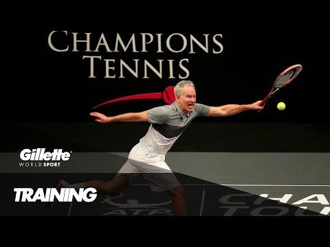 Training the next tennis Champion with John McEnroe | Gillette World Sport