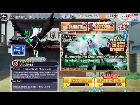 Bleach Brave Souls: Getsuga Murcielago Summons 2250 orbs(whaling for ulq)