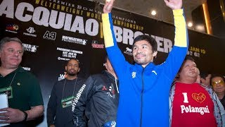 Manny Pacquiao, Adrien Broner make grand arrival in Las Vegas for fight week