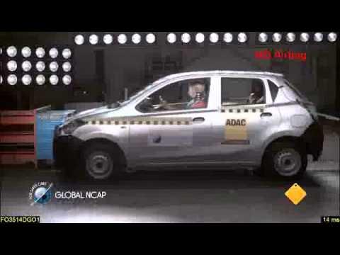 Datsun Go fails crash test (zero star safety rating) - Global NCAP India Cars