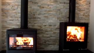 Stovax Riva Vision Med & Yeoman CL8 wood burning & multifuel stoves