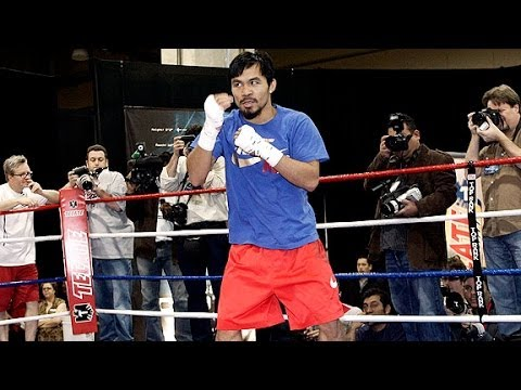 Manny Pacquiao lightning fast shadowboxing and footwork Image 1