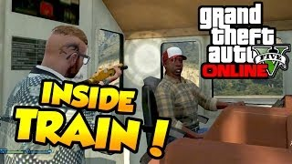 "Get Inside Train Glitch! - GTA 5 ONLINE ""Secret Location"""