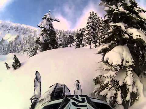 2014 Arctic Cat M8000 Proclimb. Steep and deep blower pow day Northern B.C.