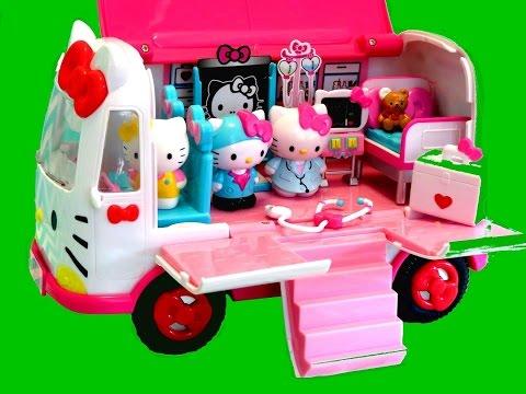 Hello Kitty Emergency Ambulance Playset - itsplaytime612