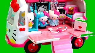 HELLO KITTY EMERGENCY AMBULANCE PLAYSET Toys Review | itsplaytime612