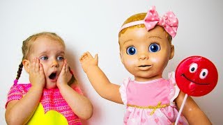 Baby Doll and Lollipop. Fun story for kids