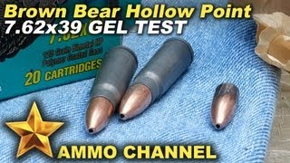 GEL TEST: 7.62x39 Brown Bear Hollow Point expansion