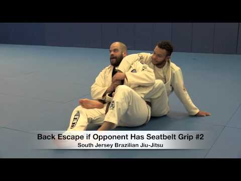 Back Escape Opponent has Seatbelt Grip #2 - Coach Jay Regalbuto of SJBJJ - Amateur Grappling League™ Image 1