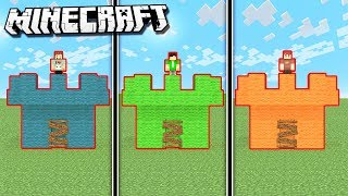 SUB vs. DENIS vs. SKETCH Castle in Minecraft!