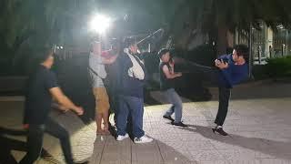 Behind the scene , phân cảnh 16 .phim võ thuật QUYẾT CHIẾN . TIỆT QUYỀN ĐẠO