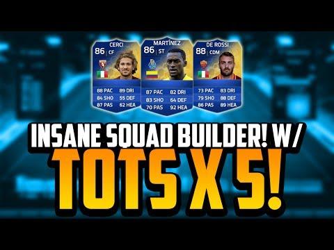 TOTS x5 SQUAD BUILDER! w/ TOTS MARTÍNEZ!   FIFA 14 Ultimate Team