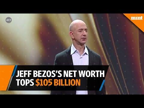 Jeff Bezos's net worth tops $105 billion as Amazon climbs in new year