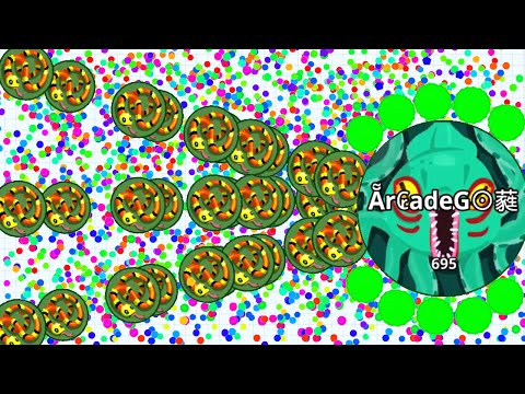 Agar.io Solo Dominating The Server Intense Battle! (Agario Best Moments)