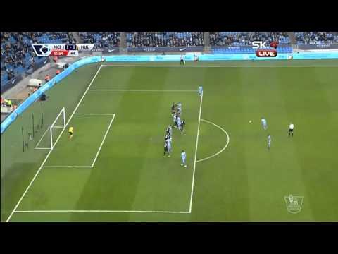James Milner Free Kick Goal Manchester City 1 - 1 Hull city 2/7/2015