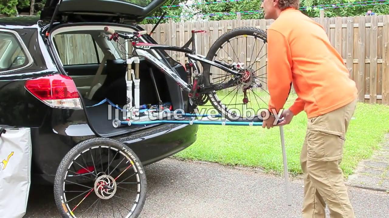 Veloboy Bike Rack Inside The Car Youtube