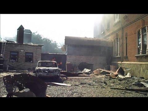 Ukraine: Slaviansk touchée par des tirs de mortier