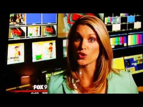 Fox 9 News Minnesota Runs Cartoon Porn In Background Of News Cast. video