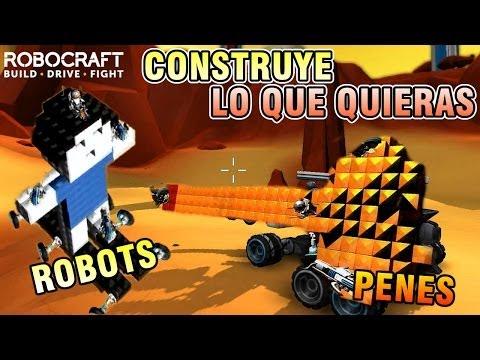 CONSTRUYENDO PENES Y ROBOTS PARA LA BATALLA!! - RoboCraft