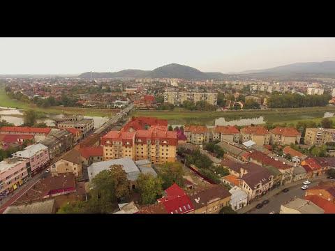 Красивый город Мукачево. Полеты над городом