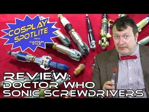 ALL the Doctor Who Sonic Screwdrivers - Cosplay Spotlite Review