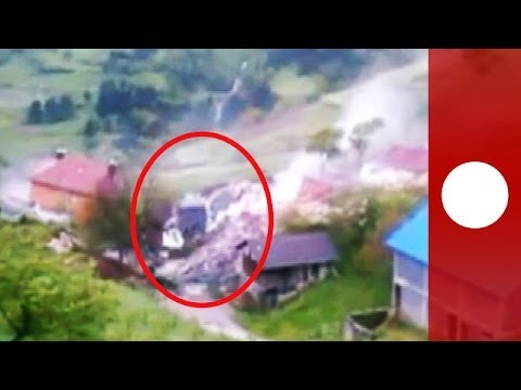 Video: Landslide destroys house in Bosnia as heavy floods hit Balkans