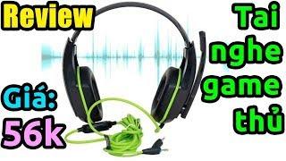 Mở hộp tai nghe game thủ chụp tai Ovann X1 giá rẻ trên Lazada