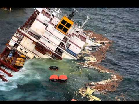Container Ship Accidents Container Ship Sinking Youtube