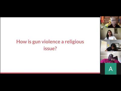 Faith based applications to gun violence prevention