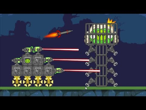 Bad Piggies - CATCH KING PIG AFTER SHOOTING THEM WITH FIGHTING TANK!
