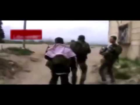 Syrian Arab Army and Hezbollah entering al-Kusair | Raw Footage | FSA panics