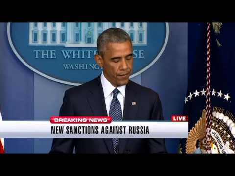 President Obama announces expanded sanctions against Russia