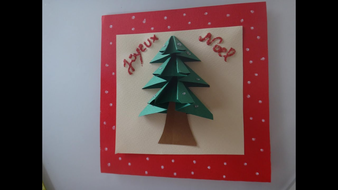 diy tuto carte de voeux noël 3D - YouTube