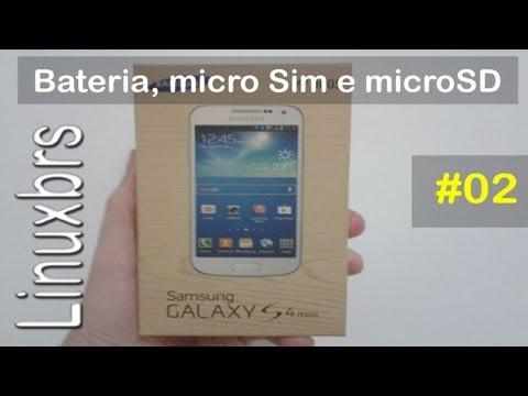 Samsung Galaxy S4 Mini Duos - i9192 - Bateria, micro Sim e MicroSD - PT-BR - Brasil