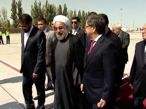The first visit of the President of Iran Hassan Rouhani