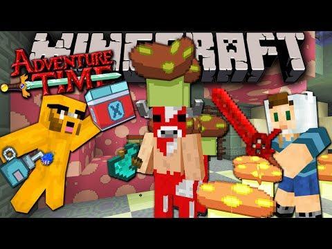 Minecraft: Adventure Time Minoshroom Boss Battle Trapped in Twilight Forest Episode 7