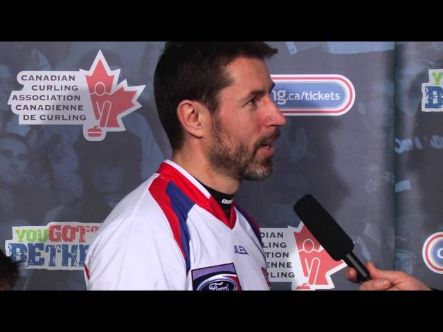 Draw 14 Media Scrum - 2013 Ford World Men&#039;s Curling Championship