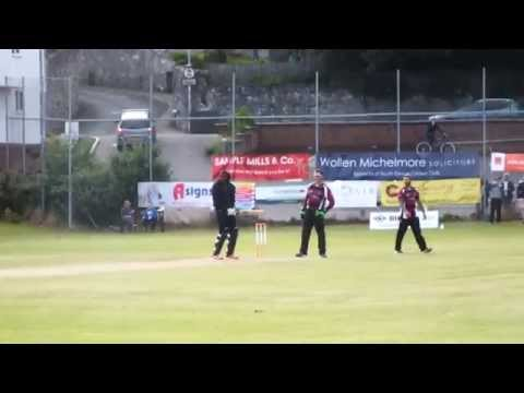 Chris Gayle batting for South Devon CC !