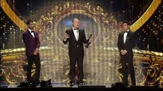 IIFA Awards 2014: Kevin Spacey with Shahid Kapoor and Farhan Akhtar on stage
