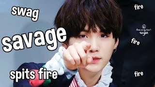 SAVAGE SUGA, the guy who spits fire #AGUSTD