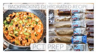 BACKPACKING DEHYDRATED VEGAN MEAL | PCT PREP UPDATE